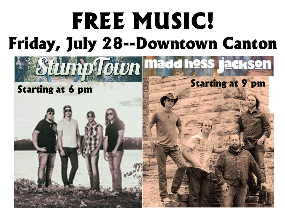 Summer Music in downtown Canton (Country & Rock) @ Downtown Canton MO