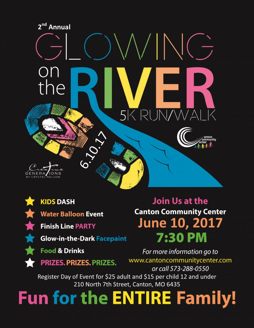 Glowing on the RIver 5K Run/Walk @ Canton Community Center | Canton | Missouri | United States