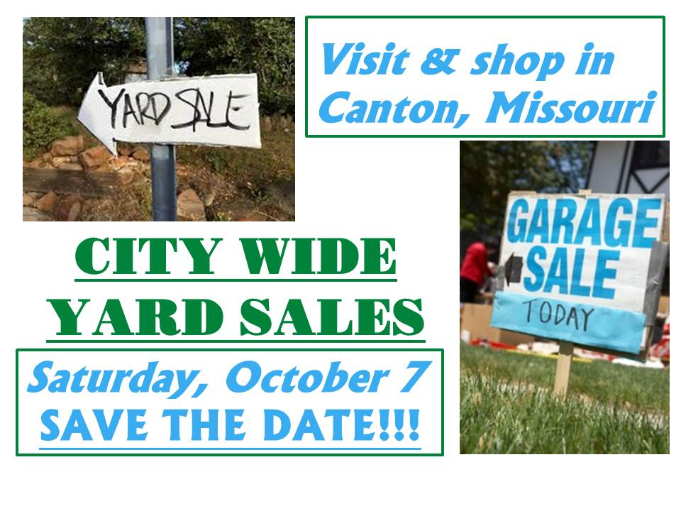 City Wide Yard Sales @ City of Canton MO