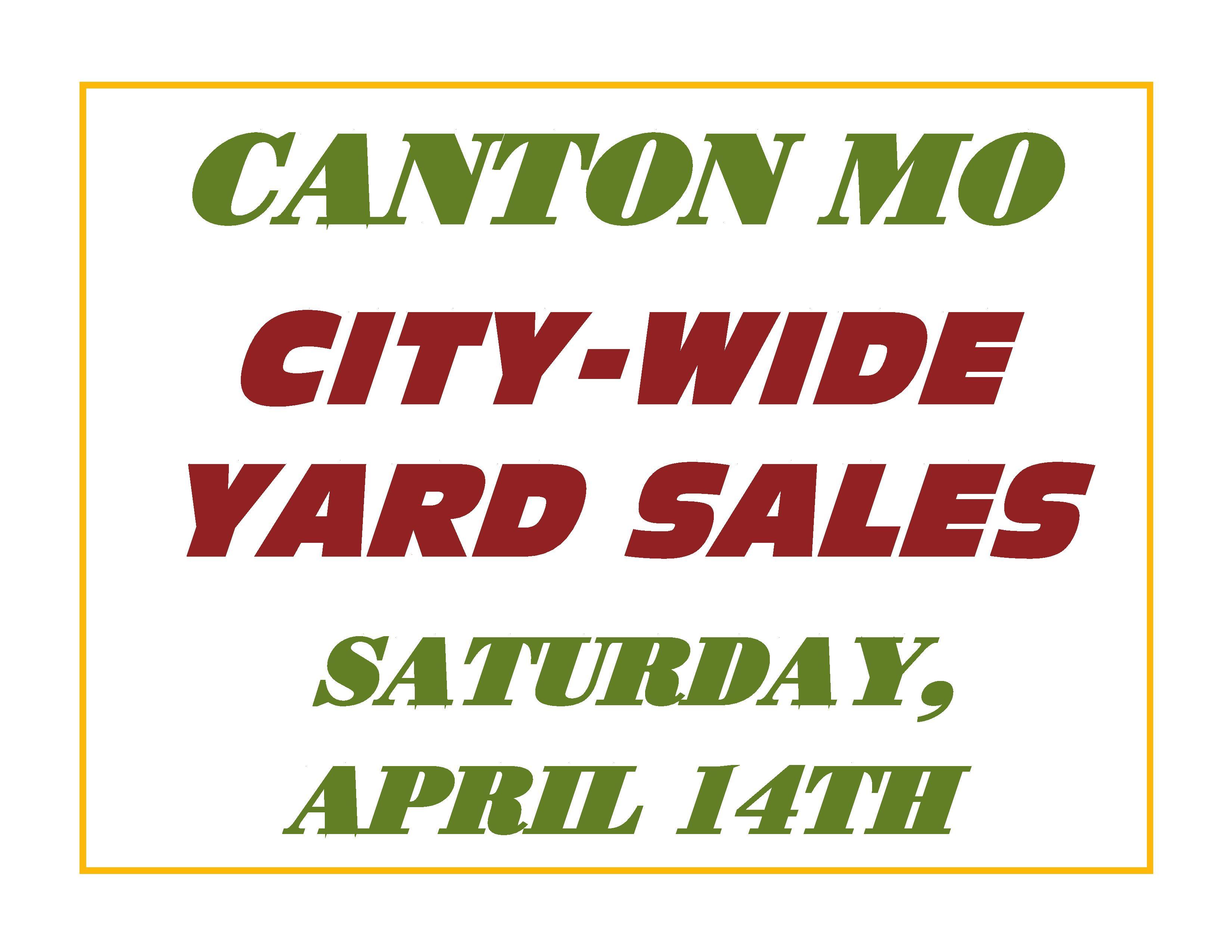 Canton City Wide Yard Sales @ Canton MO