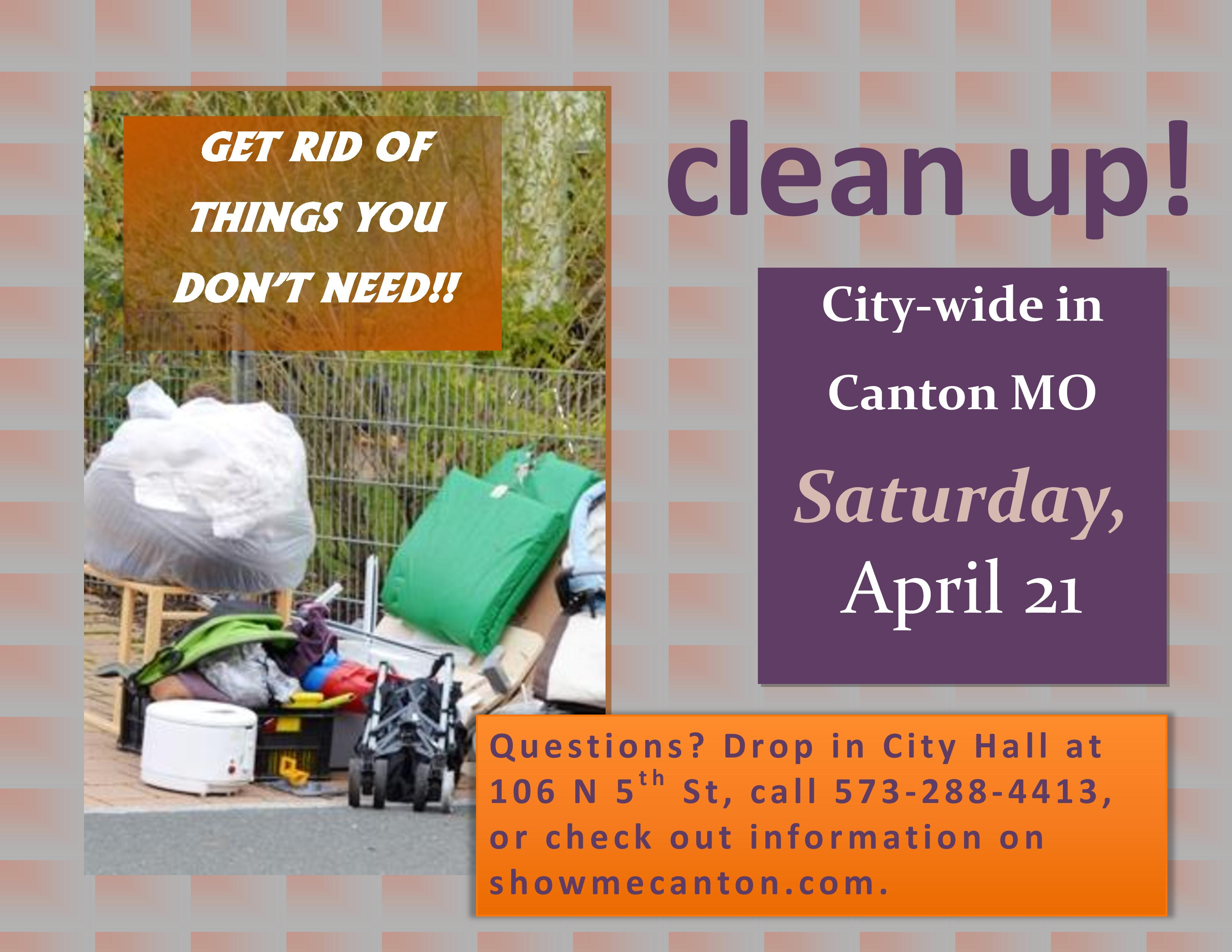 Canton City Wide Clean Up @ Canton MO